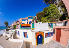 A view of the streets of taghazoute village,morocco Stock Images