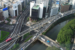 View of streets in Tokyo. Picture was taken in the hotels area Royalty Free Stock Photo