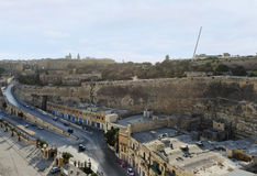 View of streets of Valletta from Cruise Port,. Malta Stock Photo