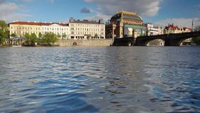 View from Strelecky island of National Theater Royalty Free Stock Photos
