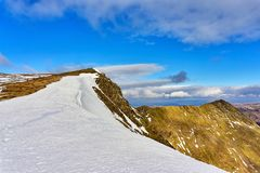 A view of striding edge in the English Lake District. Stock Photography