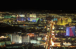 View of the strip at night from the Stratosphere Tower, NV Royalty Free Stock Photography