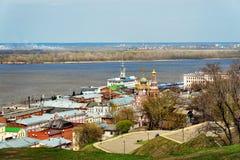 View Stroganov church in Nizhny Novgorod. Russia Royalty Free Stock Image