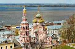 View Stroganov church in Nizhny Novgorod. Russia Stock Photo