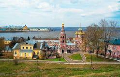 View Stroganov church in Nizhny Novgorod. Russia Royalty Free Stock Photo