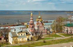 View Stroganov church in Nizhny Novgorod Stock Photos