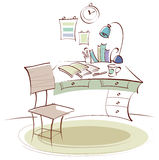 The view of Study Table Stock Image