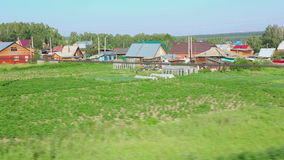 View from suburban train stock footage