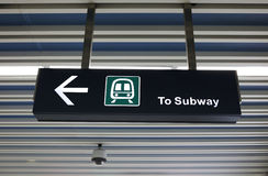 Subway Sign Royalty Free Stock Photos