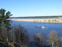 View from Sudargo mound in river Nemunas, Lithuania Royalty Free Stock Photography
