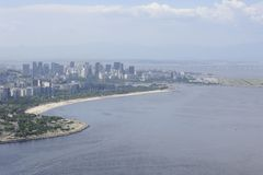 View from the Sugaloaf at Botafogo and other disctricts of Rio de Janeiro. Stock Photography