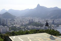 View from the Sugaloaf at Botafogo and other disctricts of Rio de Janeiro. Royalty Free Stock Photos