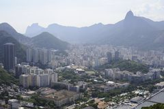 View from the Sugaloaf at Rio de Janeiro. Stock Image