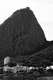 View of the Sugar Loaf from a boat at Baia de Guanabara in Rio d Stock Images