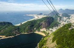 View from sugar loaf mountain in Rio Royalty Free Stock Images