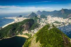 View from sugar loaf mountain in Rio Royalty Free Stock Photos