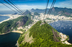 View from sugar loaf mountain in Rio Stock Photography