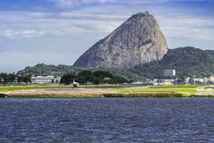 View of the Sugar Loaf mountain in Rio de Janeiro Stock Photos