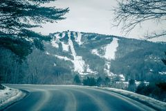 View of sugar mountain in north carolina from road. View of sugar mountain in  north carolina from road Stock Photos