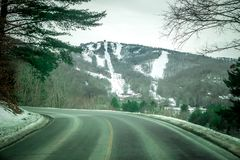 View of sugar mountain in north carolina from road. View of sugar mountain in north  carolina from road Stock Image