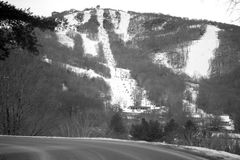View of sugar mountain in north carolina from road. View of sugar mountain in north carolina  from road Stock Images