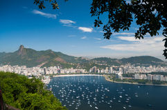 View from the Sugarloaf Mountain, Rio de Janeiro Royalty Free Stock Photo
