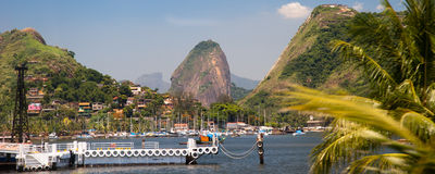 View of the sugarloaf in Rio de Janeiro Stock Images