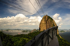 View of the sugarloaf in Rio de Janeiro Royalty Free Stock Photography
