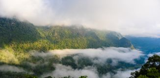 View from Sui Thang viewpoint at Angkhang mountain Stock Image