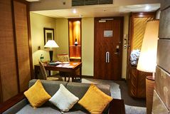 View of suite in luxury hotel arabella country estate club. A suite in a hotel or other public accommodation such as a cruise ship denotes, according to most royalty free stock images