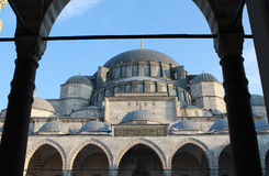 View of Suleymaniye Mosque. Royalty Free Stock Photography