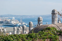 View from Suleymaniye Mosque, Istanbul, Turkey. Stock Image