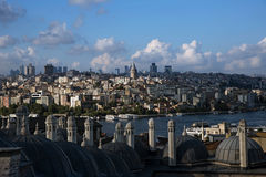View from The Suleymaniye Mosque over The Istanbul Stock Photography