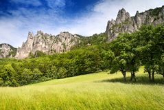 View of sulov rockies. Slovakia - slovak republic royalty free stock photos