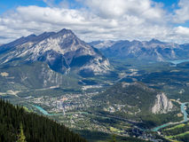 View from Sulphur Mountain Stock Photos