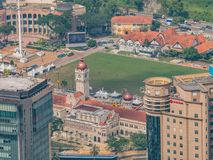 View of Sultan Abdul Samad and Dataran Merdeka Kuala Lumpur From. Above - Kuala Lumpur, Malaysia royalty free stock photos