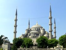 View of  of the Sultan Ahmed Mosque Royalty Free Stock Images