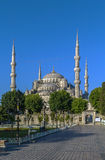 View of Sultan Ahmed Mosque, Istanbul royalty free stock image