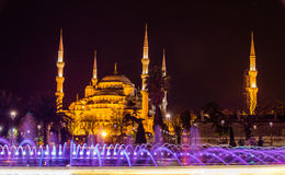 View of the Sultan Ahmed mosque in Istanbul royalty free stock photo
