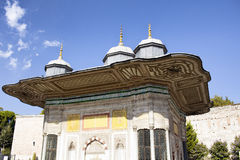 View of Sultan Fountain of Ahmed III. royalty free stock images