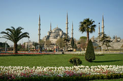View of Sultanahmet (Blue) Mosque in Istanbul Stock Photo
