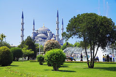 View of the Sultanahmet Mosque in Istanbul Stock Photos