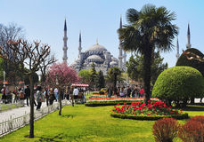 View of the Sultanahmet Mosque in Istanbul. Turkey Stock Photography