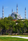 View of the Sultanahmet Mosque in Istanbul Royalty Free Stock Photography