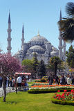 View of the Sultanahmet Mosque in Istanbul Stock Photo