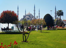 View of the Sultanahmet Mosque in Istanbul Stock Photography