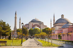 View of the Sultanahmet Square and Saint Sophia, Istanbul, Stock Photos