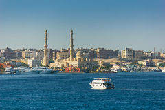 View on a sultry afternoon in Hurghada. Egypt Royalty Free Stock Photo