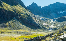 View of the Sulzenauferner Glacier in Stubai Alps. Austria royalty free stock images