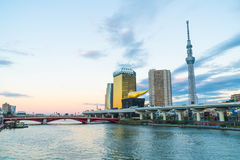 View of Sumida River. With Tokyo City Stock Photos